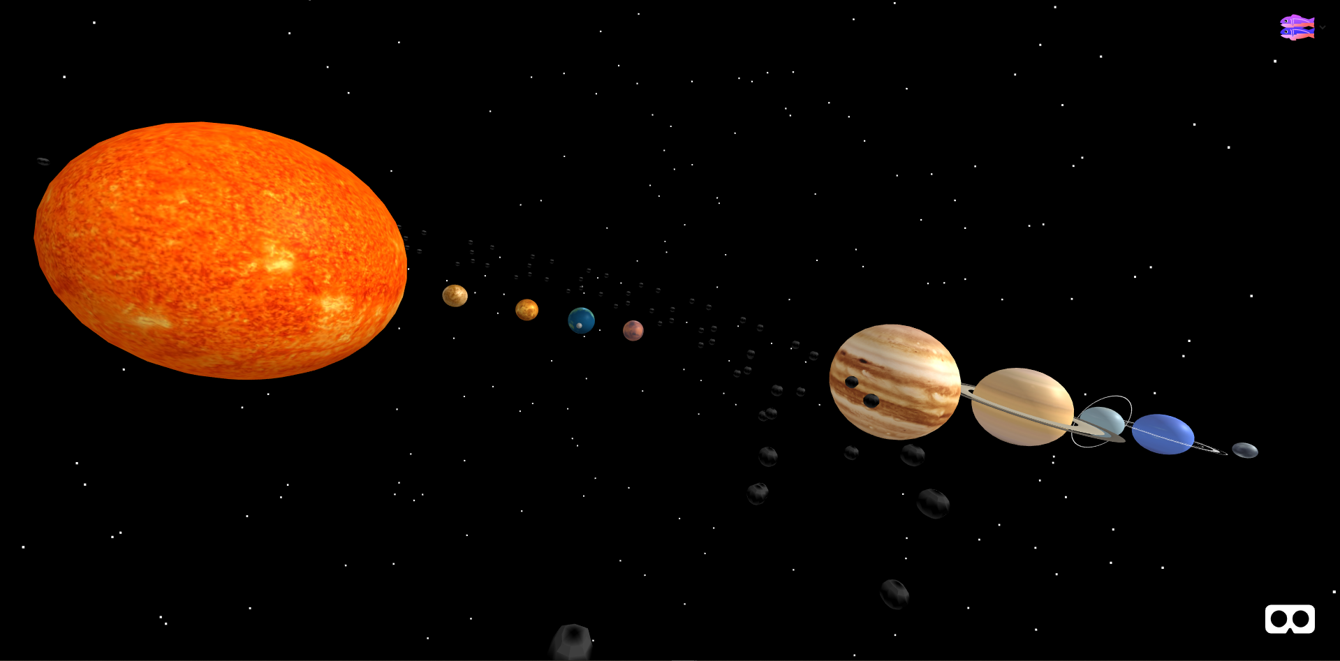 WebVR Solar System
